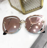 Fashion Eyewear Women Pierced Sunglasses