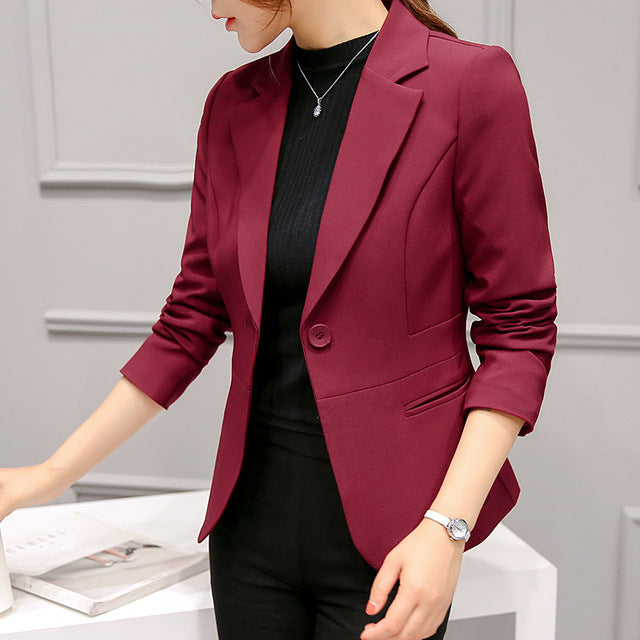 Long Sleeve Blazers Slim Jacket