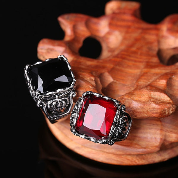 Gothic Crown Rings Vintage Style Fashion