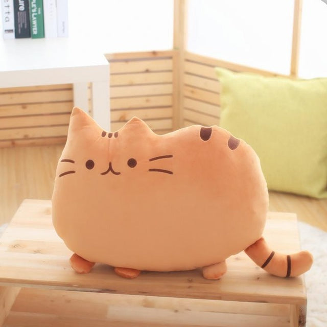 Soft Plush Cat Pillow