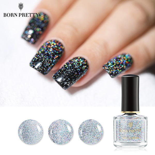 Holographic Sequins Galaxy Glitter Nail Polish