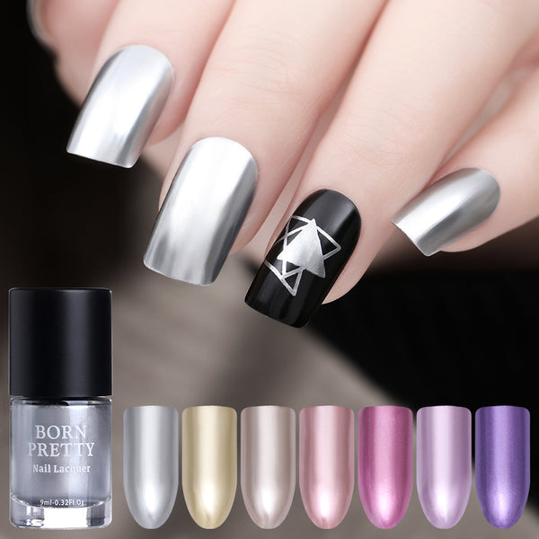 Chrome Manicure Nail Art Varnish Polish