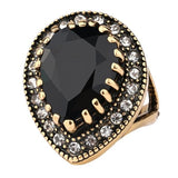 Gold Black Vintage Look Wedding Rings
