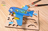 3D Coloring Model - Airplane