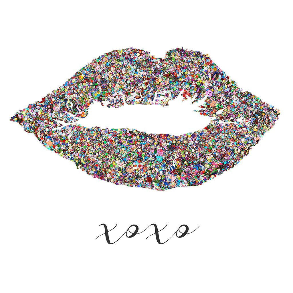 picture about Lip Printable named XOXO Glitter Lips Kiss Glam Get pleasure from Artwork Printable Poster