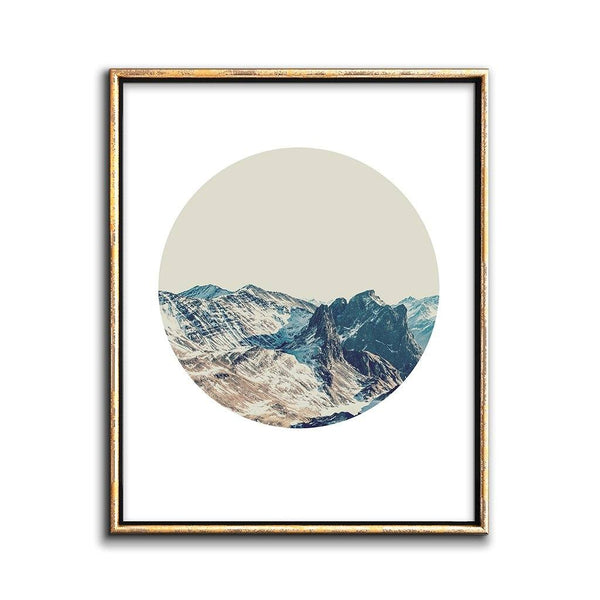 modern landscape print mountains