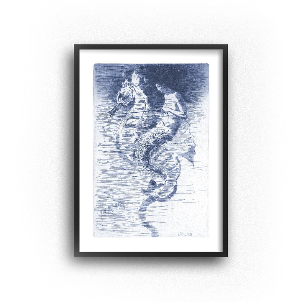 mermaid wall art coastal nursery decor