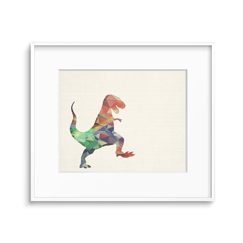 dinosaur modern poly nursery art printable