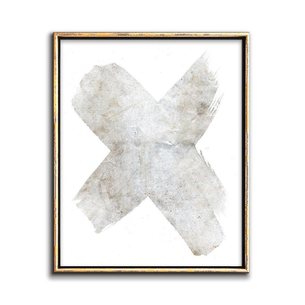 white on white abstract art print neutral wall decor