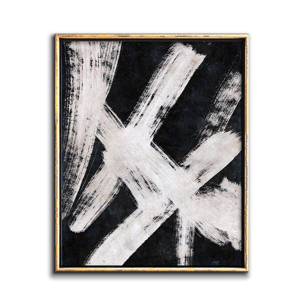 Black and White Abstract Painting Modern Printable Art ...