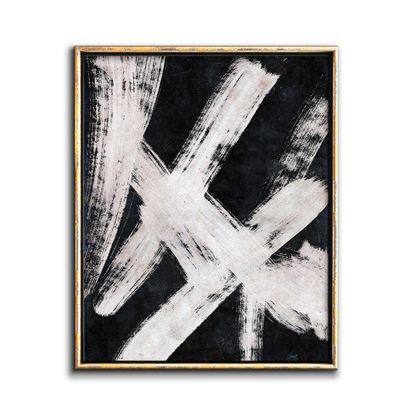 abstract painting black and white printable art