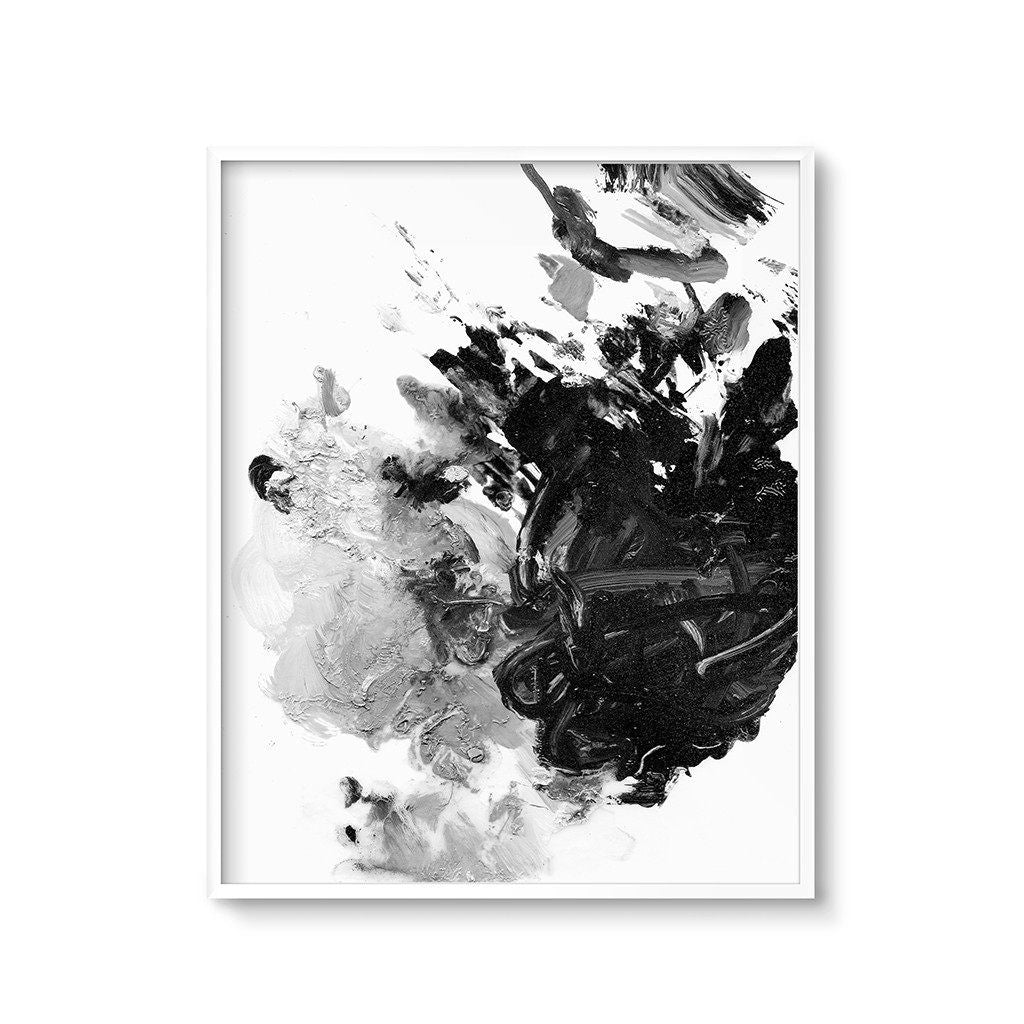 Black And White Abstract Painting Modern Art Printable