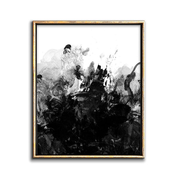 Modern Black And White Abstract Art Downloadable Print