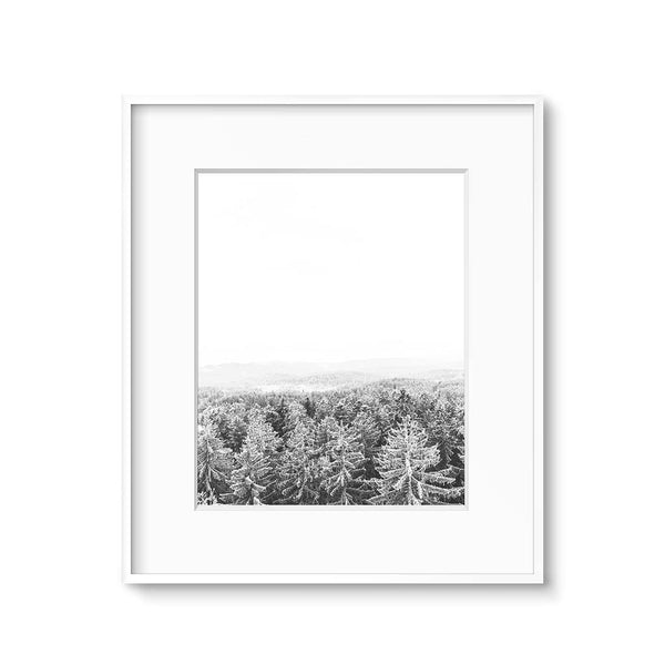 scandinavian black and white landscape art print