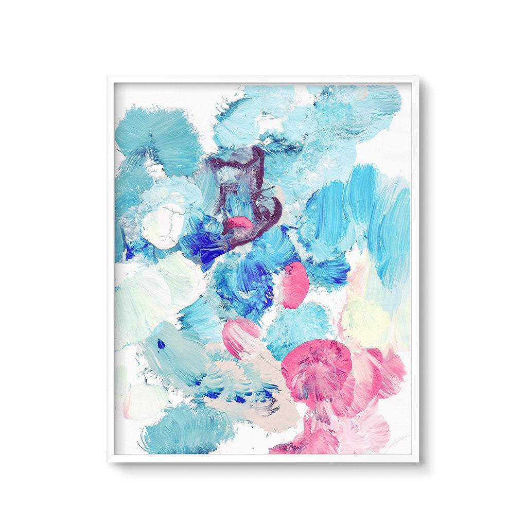 blue abstract wall art print