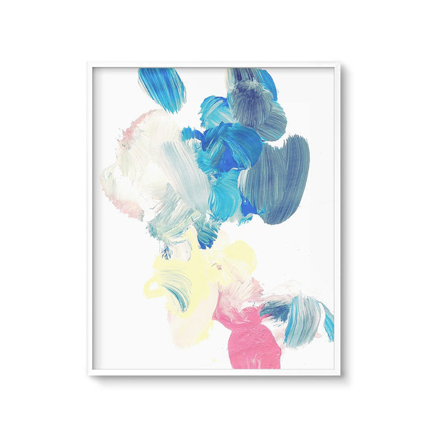 Blue Abstract Wall Art Painting Modern Nursery Printable