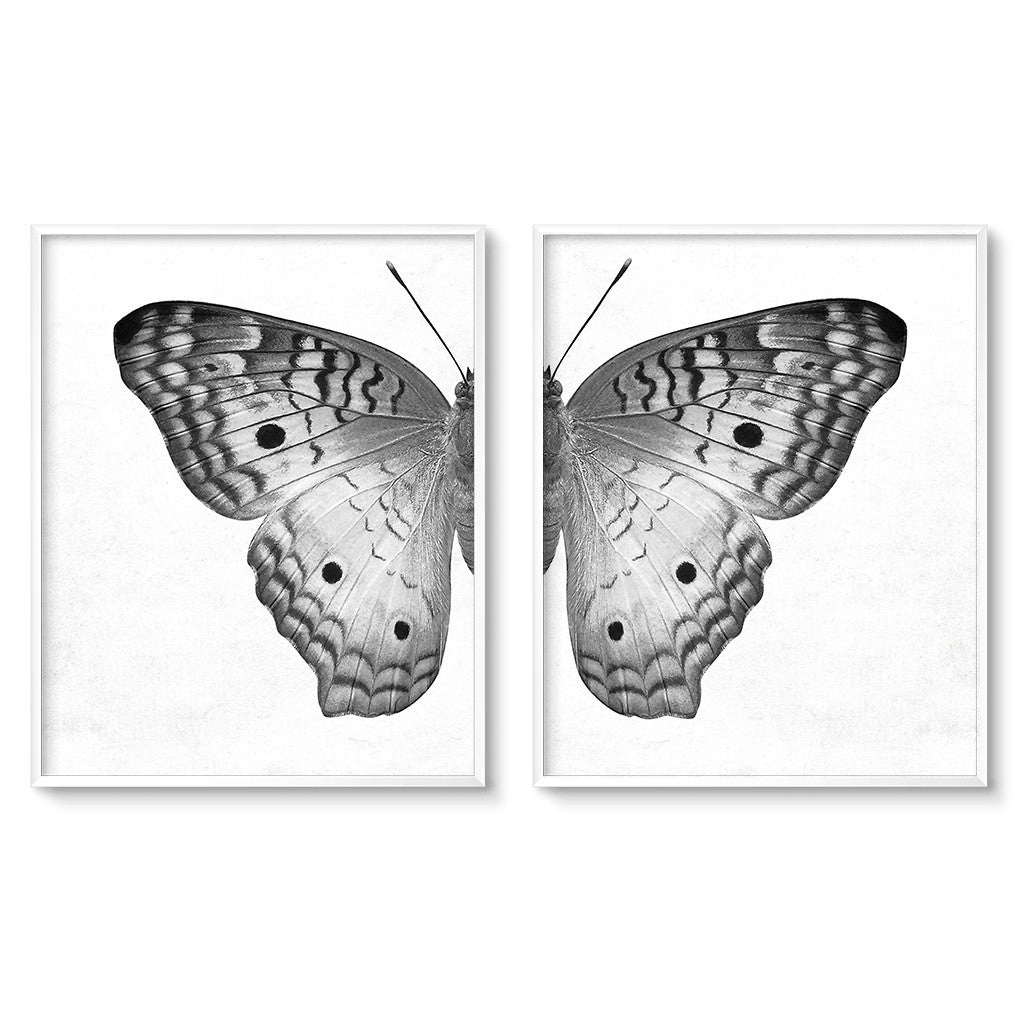 printable art butterfly wing prints diptych