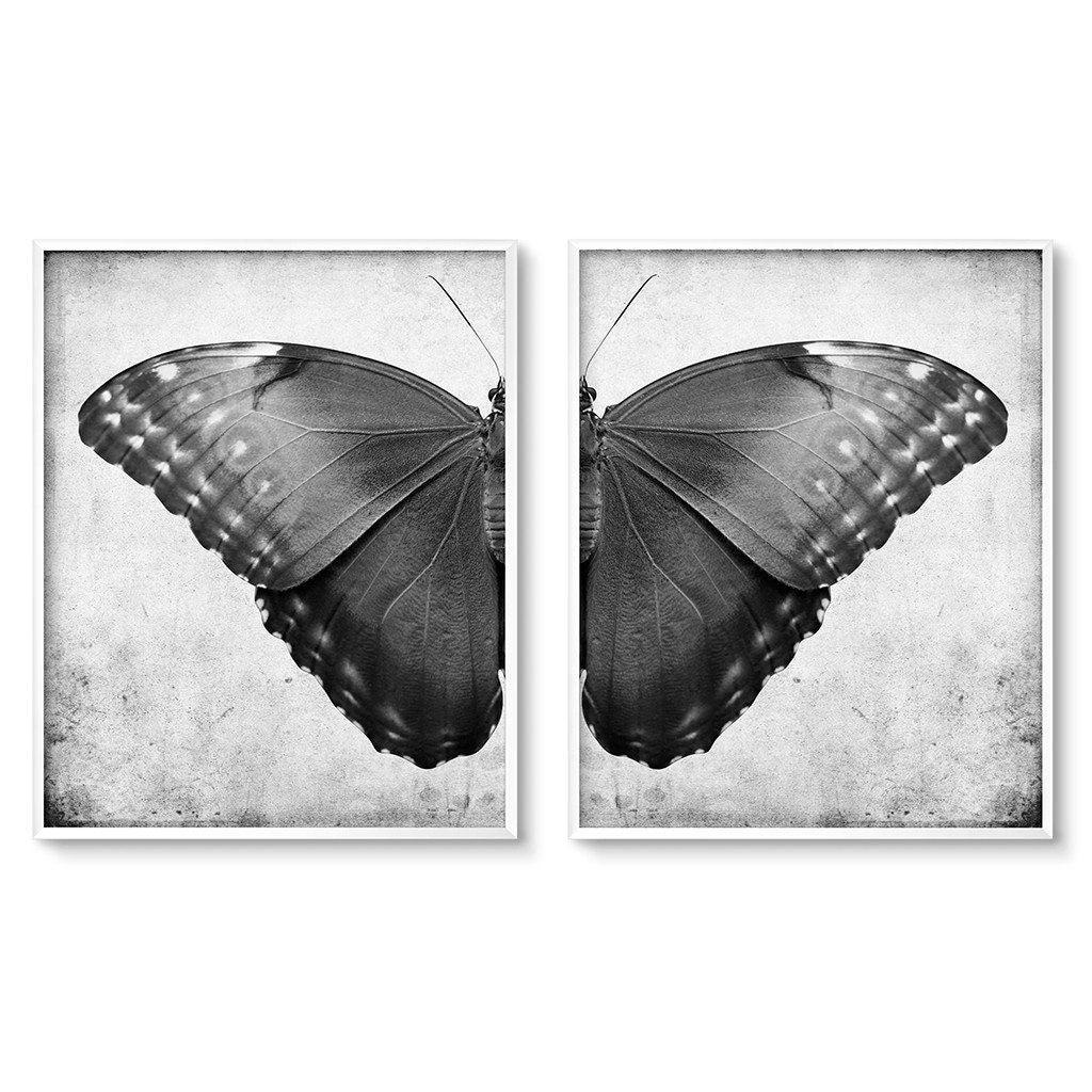 Dark Butterfly Diptych Wall Art Printables