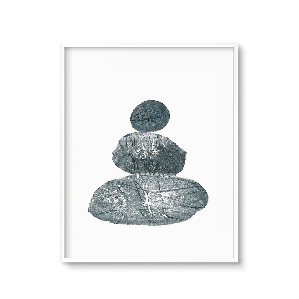 zen art print minimalist modern stack of rocks