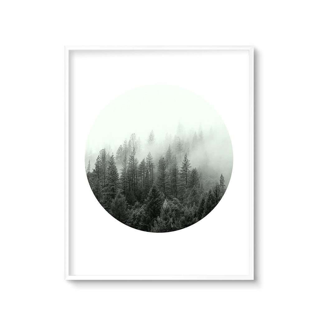 contemporary landscape art print forest trees
