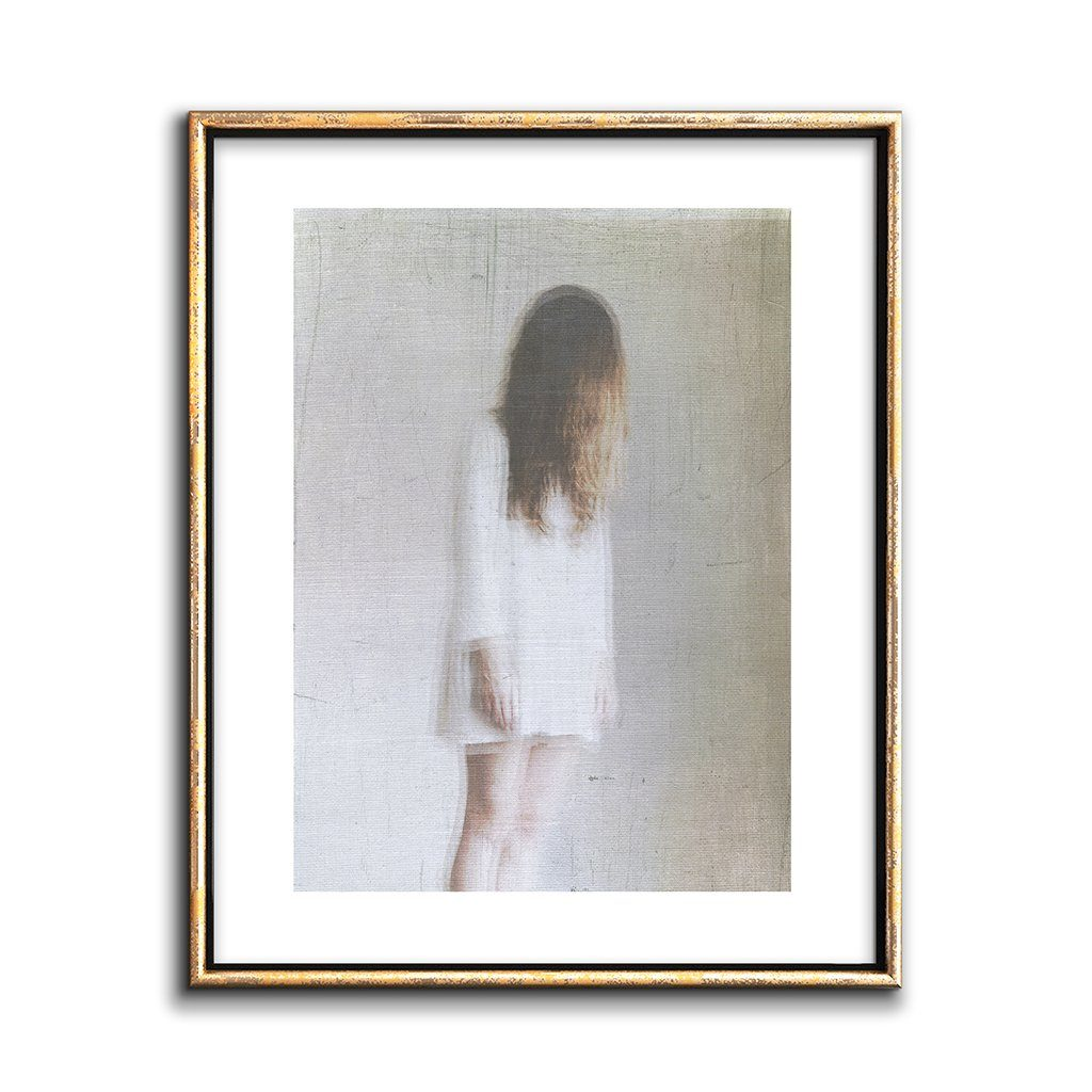 white on white neutral wall art figurative