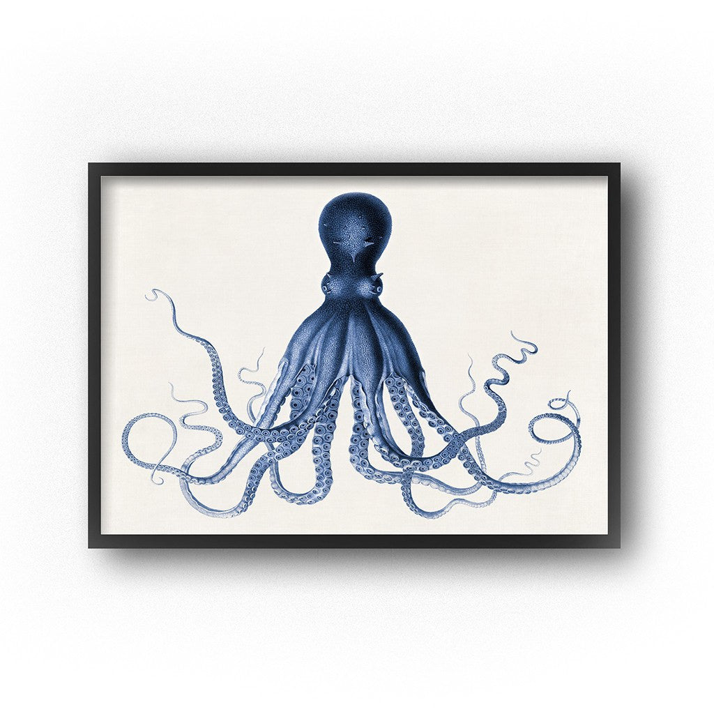 image relating to Printable Octopus named Octopus Artwork Nautical Nursery Boys Area Wall Decor Coastal