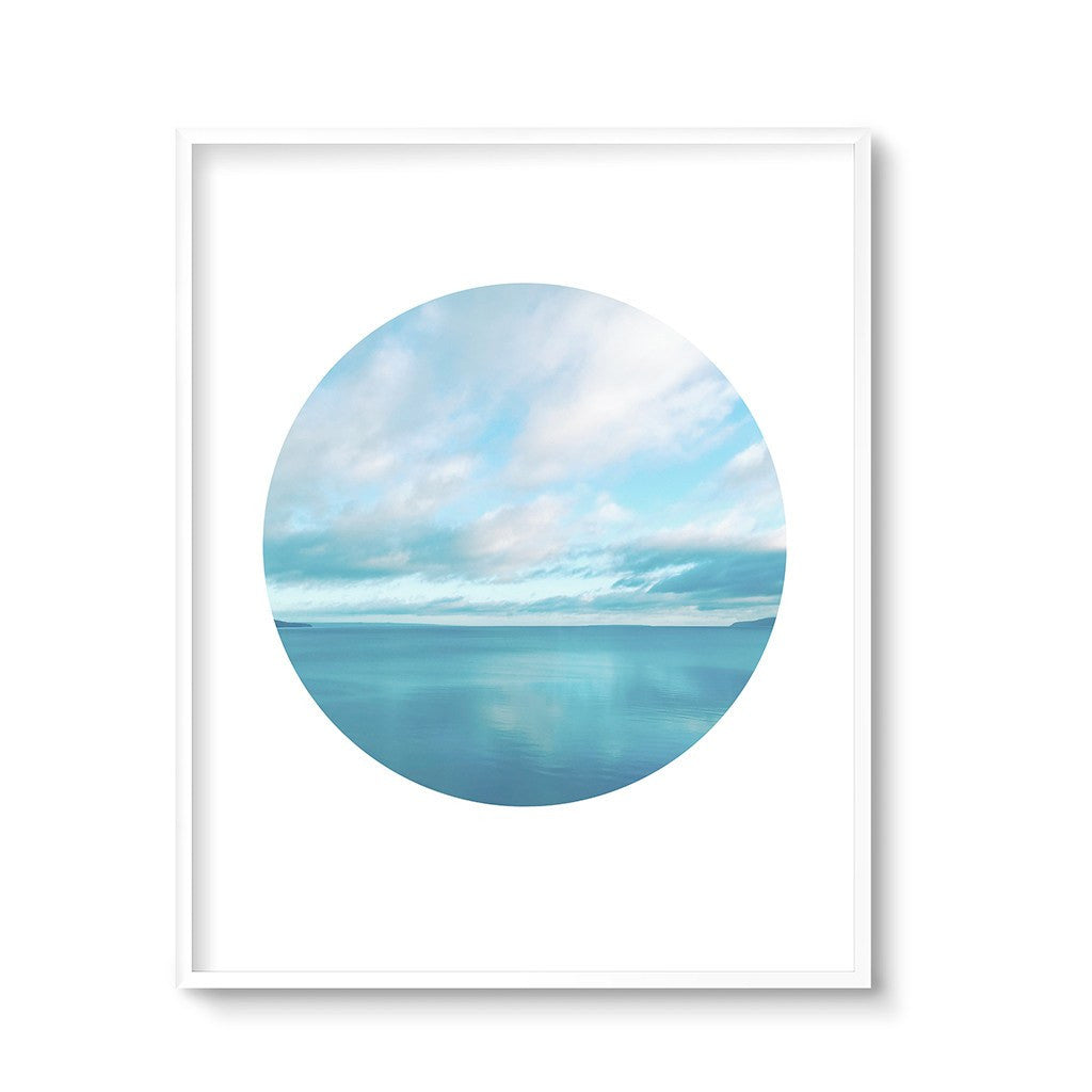 blue ocean coastal wall art print