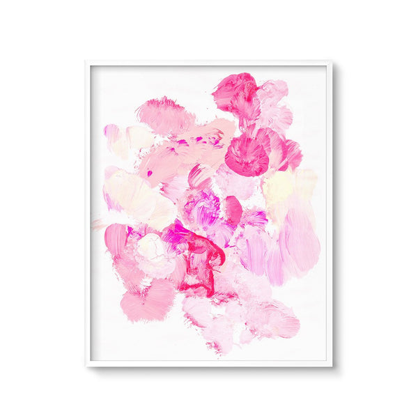 modern pink abstract wall art printable