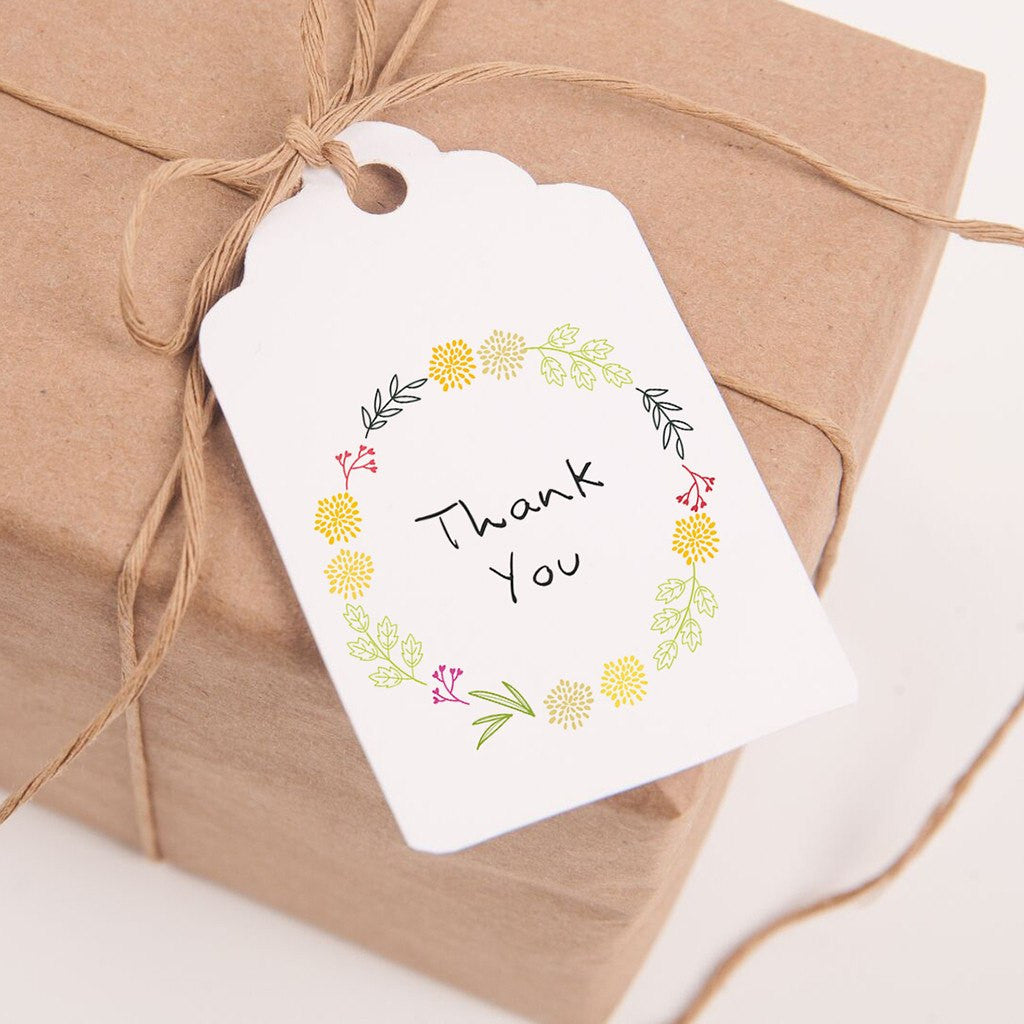 Printable Thank You Tags for Gifts and Wedding Favors - Spring ...