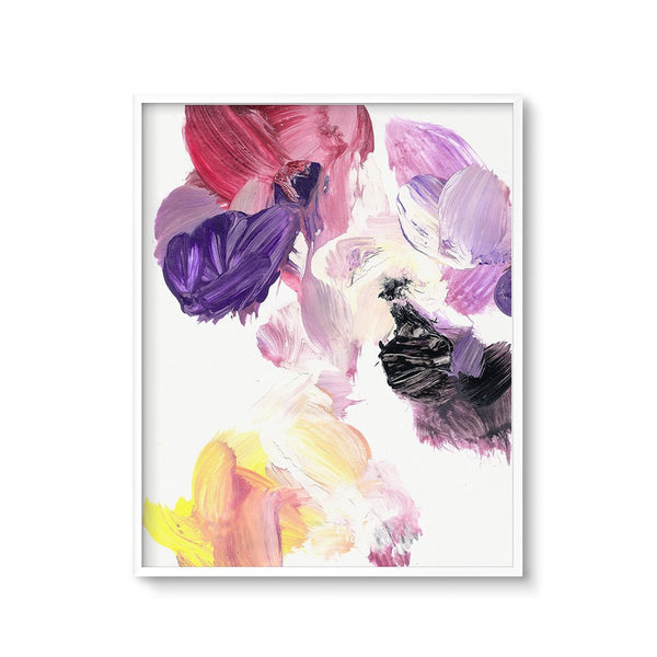 colorful abstract painting print