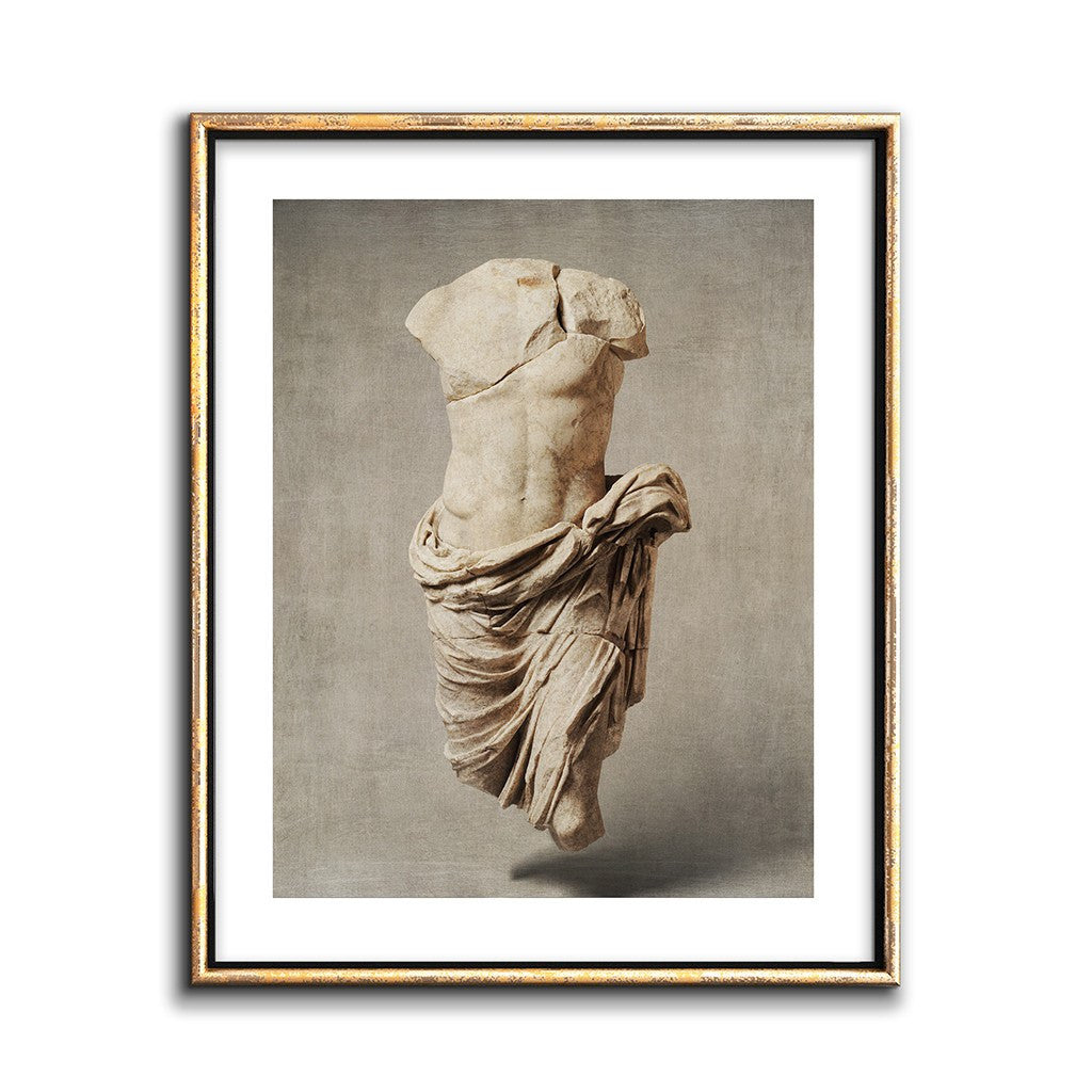 sepia wall art photo collage roman marbe statue