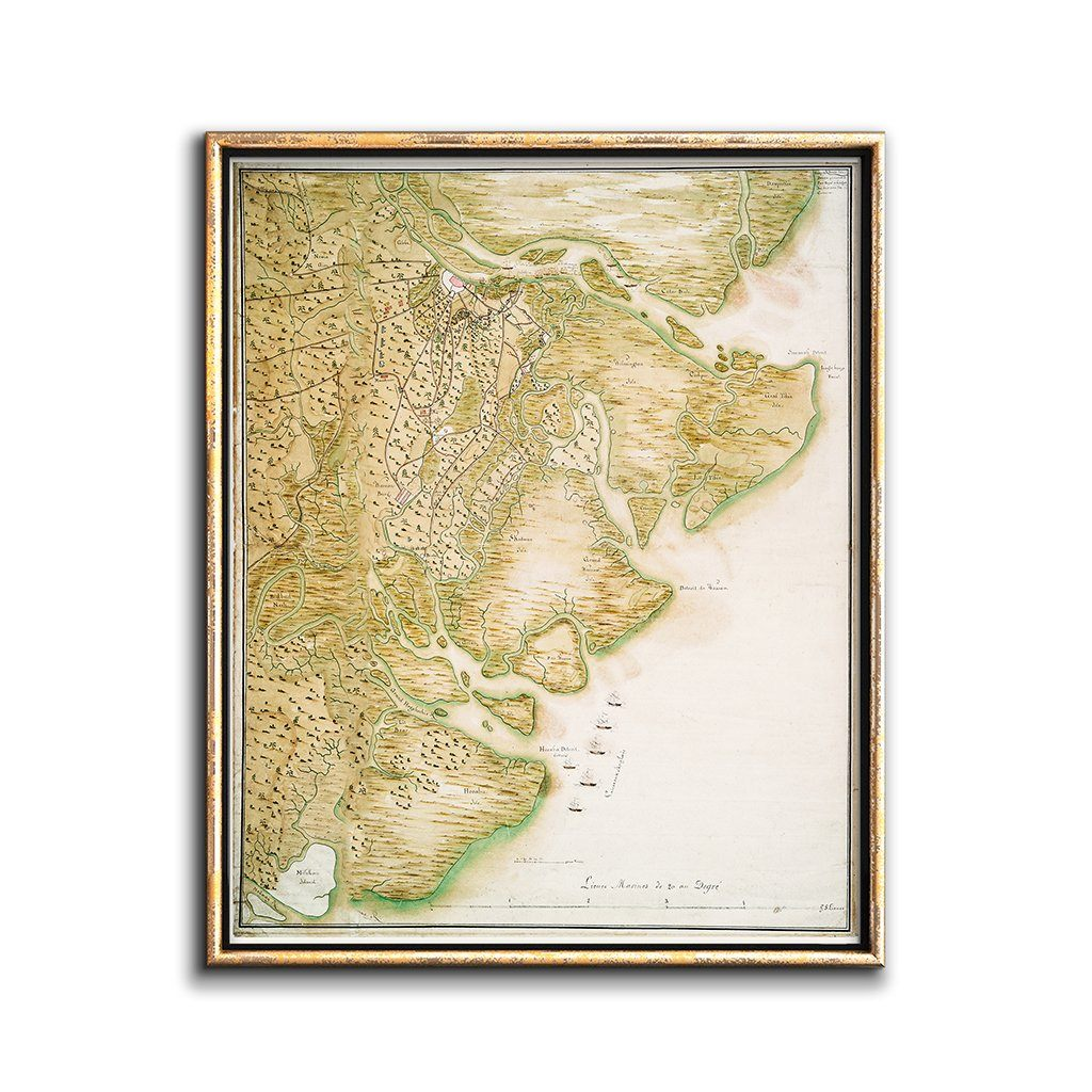 picture relating to Vintage Map Printable identify Traditional Map of Savannah Ga Printable Artwork Chaos