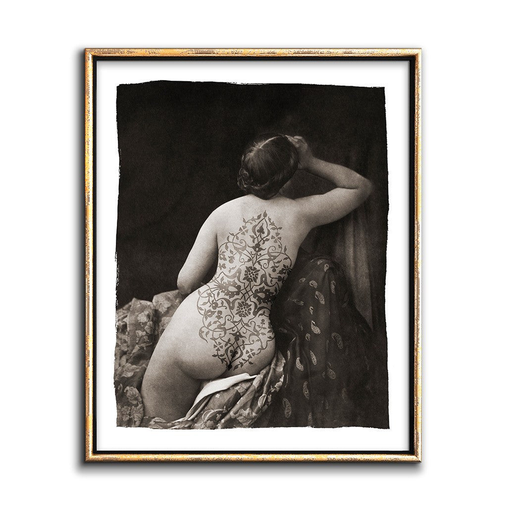 Bohemain Art Printable Sepia Photo Collage Nude Woman With -5854