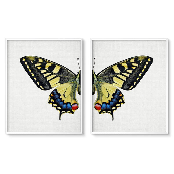 contemporary butterfly wall decor set of 2 prints