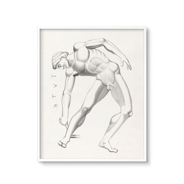vintage lithograph male figure art printable