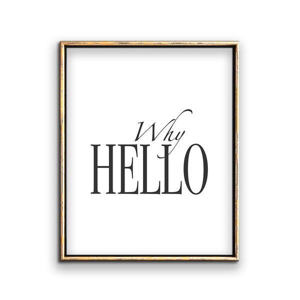 Why Hello welcome sign entryway wall decor