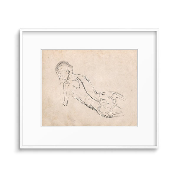 anatomy figure drawing woman print