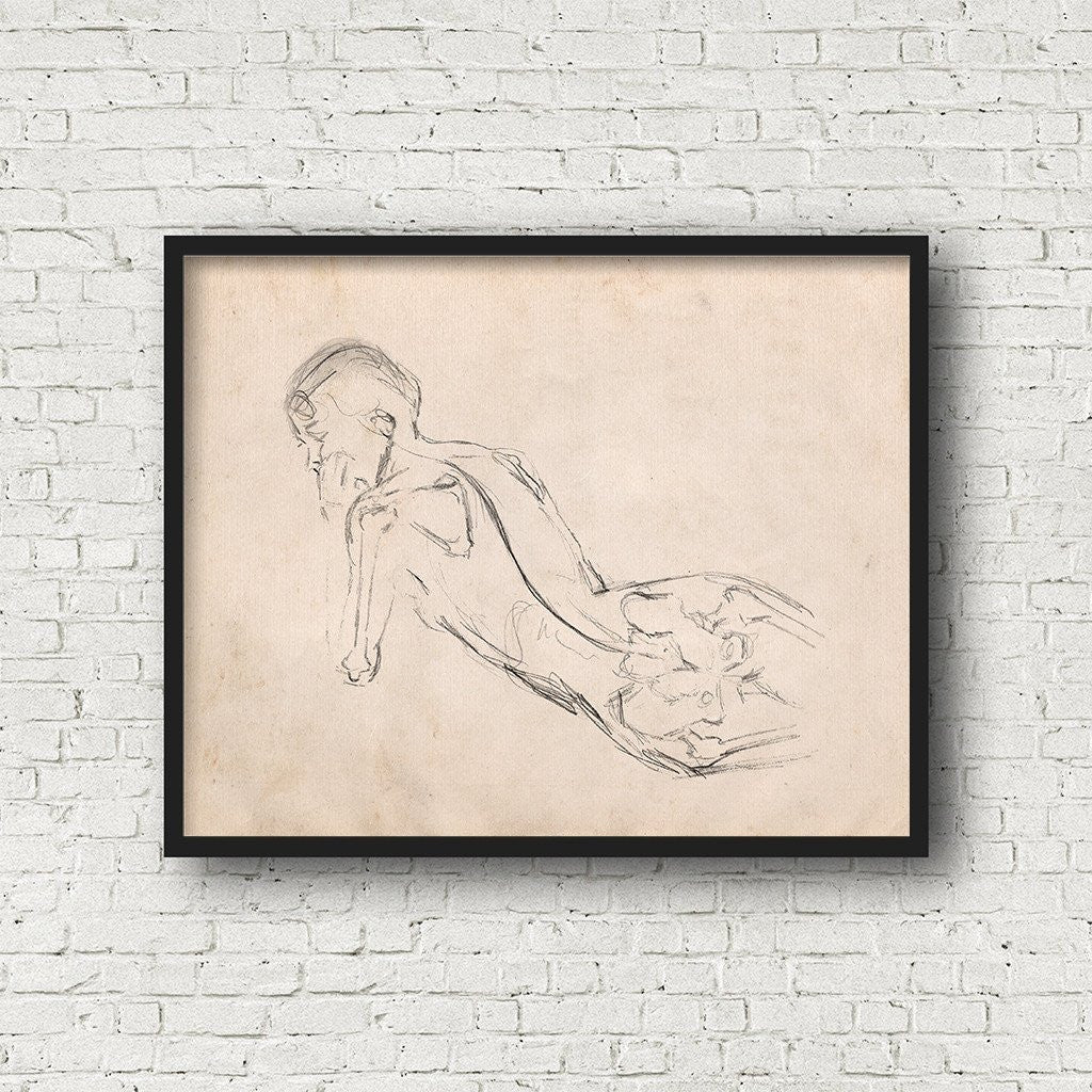 Woman Anatomy Study Figure Drawing Printable Art Gallery Wall Decor ...