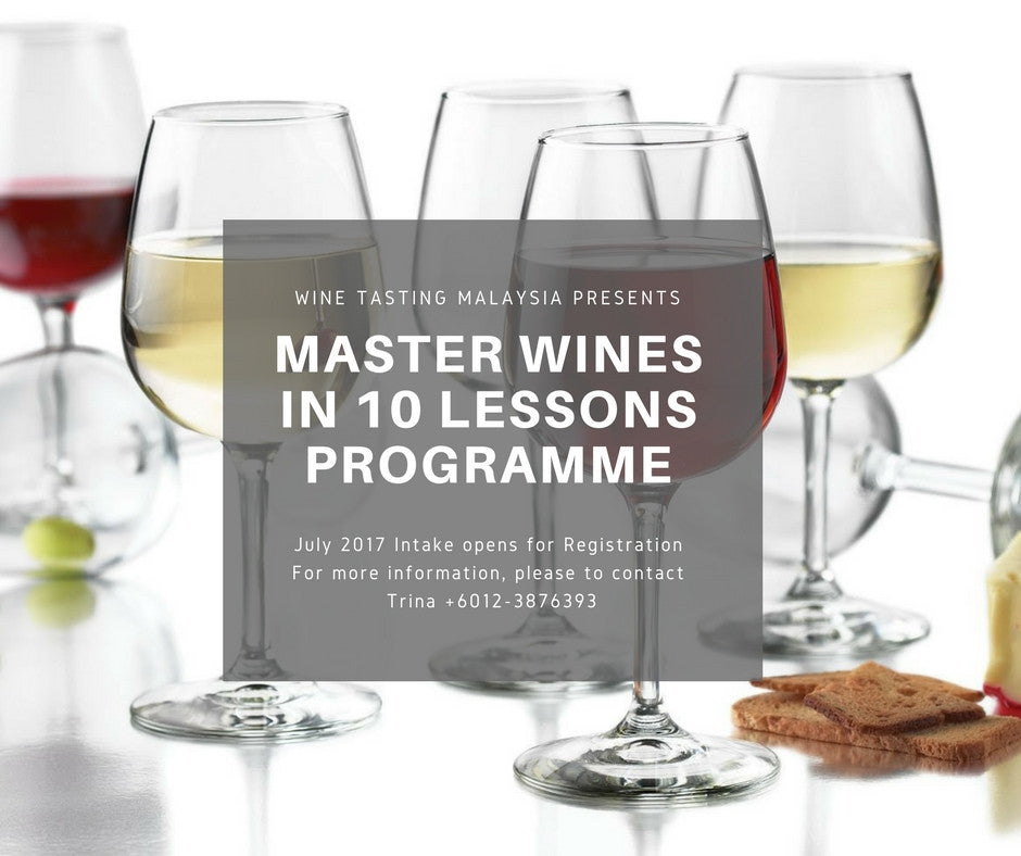 Master Wine in 10 Lessons Program-Weekly Class Fee