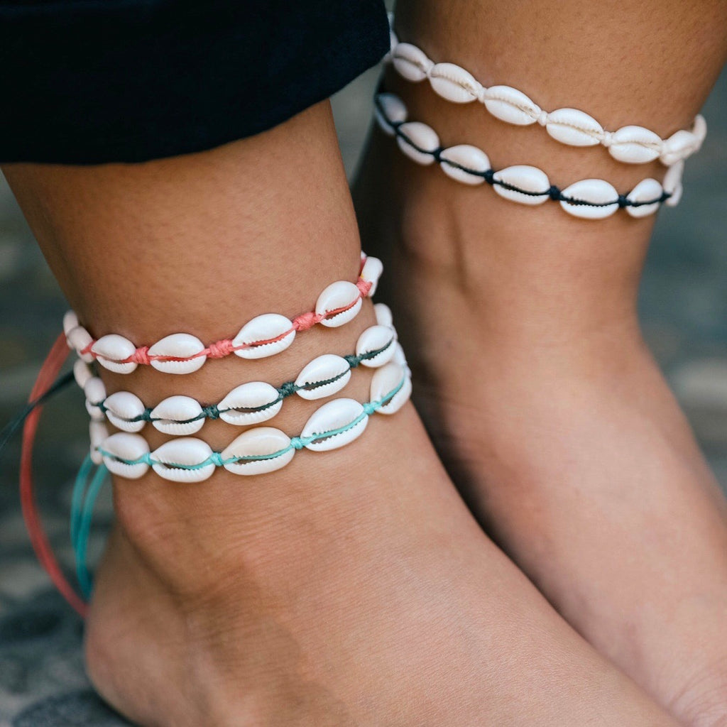 Shells Anklet ~ Choose your colour
