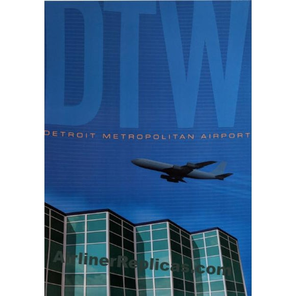 Detroit Metro Airport Poster 14 X 20 - Airliner Replicas