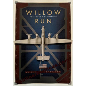 Willow Run B-24 Liberator Poster 14 X 20 - Airliner Replicas