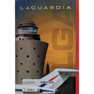 United LGA Laquarida Airport Poster 14 X 20 - Airliner Replicas