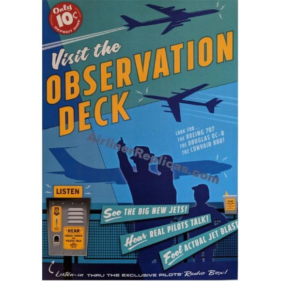 Visit the Observation Deck Poster 14 X 20 - Airliner Replicas