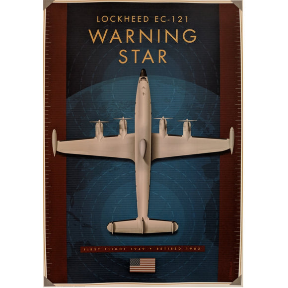 Lockheed Warning Star Poster 14 X 20 - Airliner Replicas