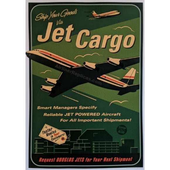 DC-8 Jet Cargo Poster 14 X 20 - Airliner Replicas