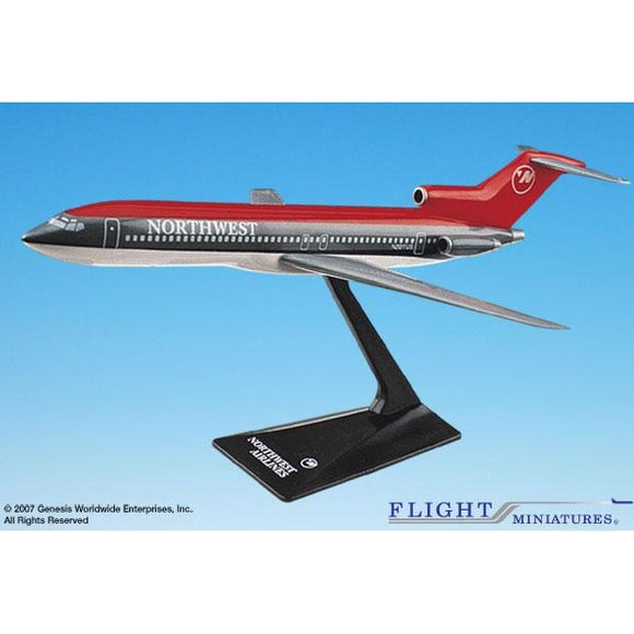 Flight Miniatures Northwest 727-200 1:200 Plastic Snap-Fit Desktop Model - Airliner Replicas