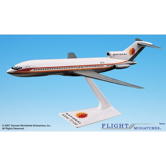 Flight Miniatures National 727-200 1:200 Plastic Snap-Fit Desktop Model - Airliner Replicas