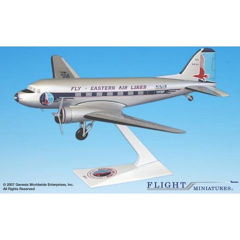 Flight Miniatures Estern DC-3 1:100 Plastic Snap-Fit Desktop Model - Airliner Replicas