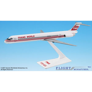 Flight Miniatures TWA MD-80 - Airliner Replicas
